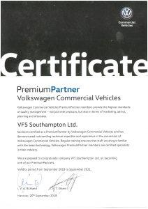 VFS Ltd Premium Partner commercial convertor by Volkswagen