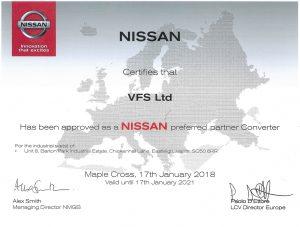 VFS Ltd approved Nissan Vehicle Convertor