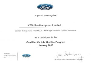 VFS Ltd approved by Ford for Commercial Van Conversion OSS