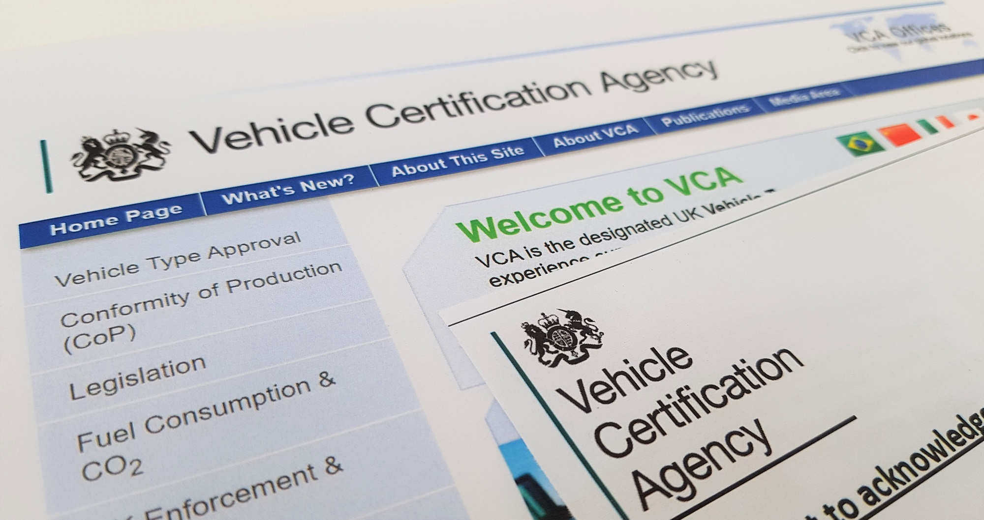 VFS Type Approval from Vehicle Certificate Agency